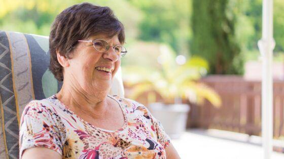 Elder Care in Philadelphia, PA, elderly woman smiling at home private care